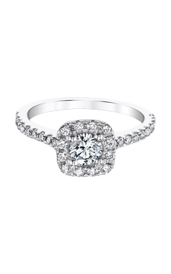 Love Story 14k White Gold 1ctw Halo Diamond Engagement Ring AJ-R10683LJ product image