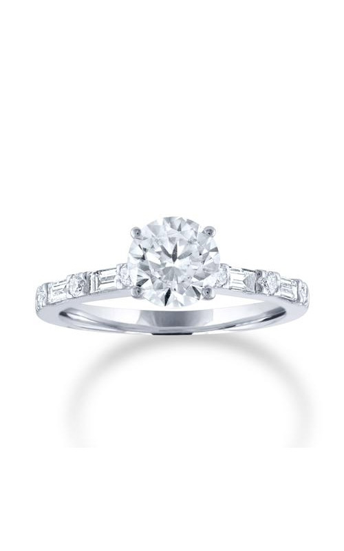 Love Story 14k 3/8CTW Brilliant and Baguette Semi Mount Engagement Ring 60106D-14KW-3/8 product image
