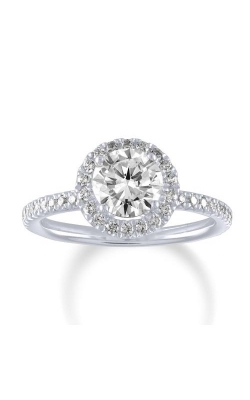 Love Story 14k White Gold 3/8 Ctw Round Halo Semi Mount Engagement Ring 60396D-14KW-3/8 product image