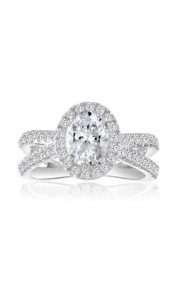 Love Story 14k White Gold 5/8ctw Spilt Halo Semi Mount Engagement Ring 60466D-14KW-5/8 product image