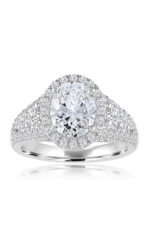 Love Story 14k White Gold 1.20ctw Oval Diamond Semi Mount Engagement Ring 60766D-14KW-1.2 product image