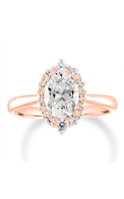 Love Story 14k Rose Gold 1/3ctw Brilliant Oval Semi Mount Engagement Ring 61166D-14KR-1/3 product image