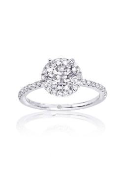 Love Story White Gold 3/8ctw Round Diamond Pave Halo Semi Mount Engagement Ring 62256D-S-14W-1/6 product image