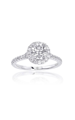 Love Story 14k White Gold 3/8ctw Round Diamond Pave Halo 62266D-S-14W-1/6 product image