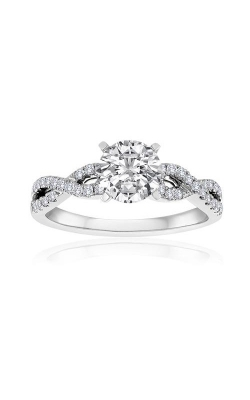Love Story 14k White Gold 1/4ctw Pave Twist Semi Mount Engagement Ring 63416D-14KW-1/3 product image