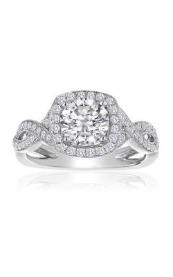 Love Story 14k White Gold 1/2ctw Round Diamond Pave Twist 63806D-14KW-1/2 product image