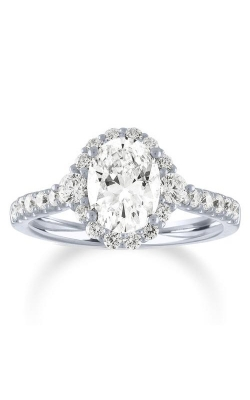 Love Story 14k 1/3ctw Oval Halo Semi Mount Engagement Ring 66306D-14KW-1/3 product image
