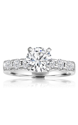 Love Story 14k White Gold 1/4ctw Round Diamond Semi Mount Engagement Ring 67076D-14W-1-3 product image