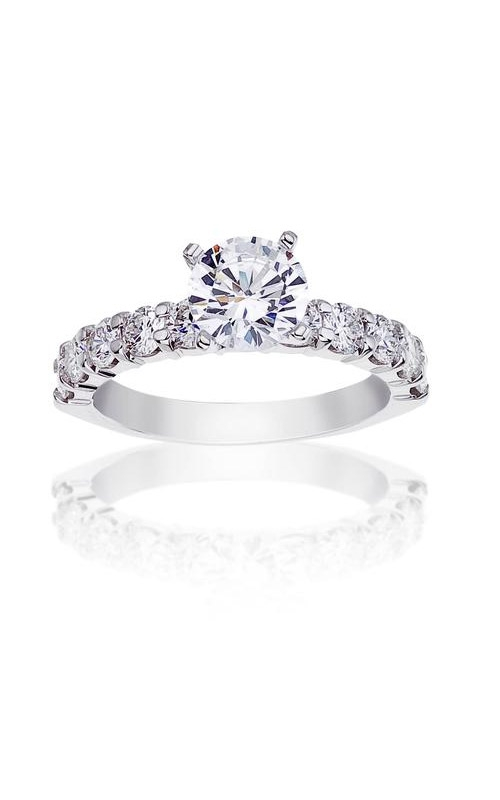 Love Story 14k White Gold 1ctw Round Diamond Semi Mount Engagement Ring 67116D-14KW-4/4 product image