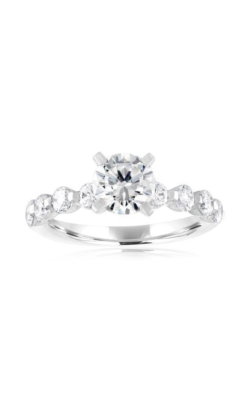 Love Story 14k White Gold 1ctw Round Diamond Semi Mount Engagement Ring 67136D-14KW-1.1 product image