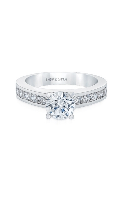 Love Story 14k White Gold 3/8ctw Diamond Semi Mount Ring 67211D-14KW-1/2 product image