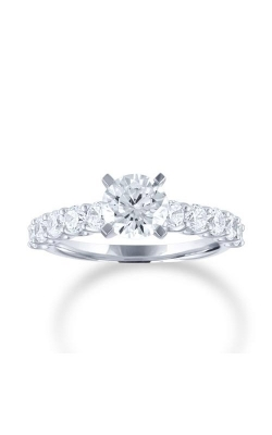 Love Story 14k White Gold 1/2ctw Brilliant Round Semi Mount Engagement Ring 67816D-14KW-1-2 product image