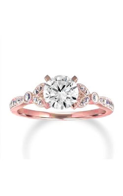 Love Story 14k Rose Gold 1/5ctw Floral Petite Engagement Ring 68206D-14KR-1/5 product image
