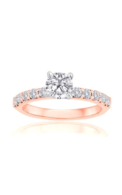 Love Story 14k Rose Gold Diamond Round Semi Mount Engagement Ring 69126D-14KR-1-2 product image
