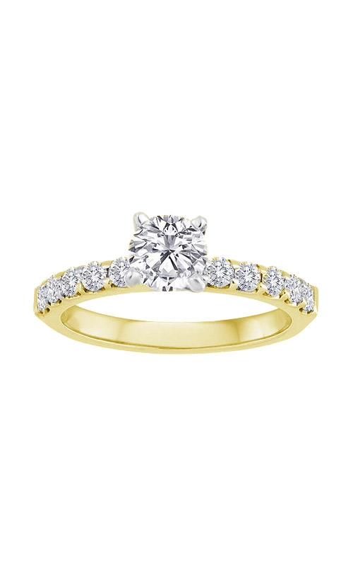 Love Story 14k Yellow Gold 2/3ctw Round Diamond Semi Mount Engagement Ring 69126D-14KY-3-4 product image