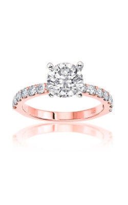 Love Story 14k Rose Gold 2/5ctw Round Diamond Shared Prong Engagement Ring 69156D-14KR-1/2 product image