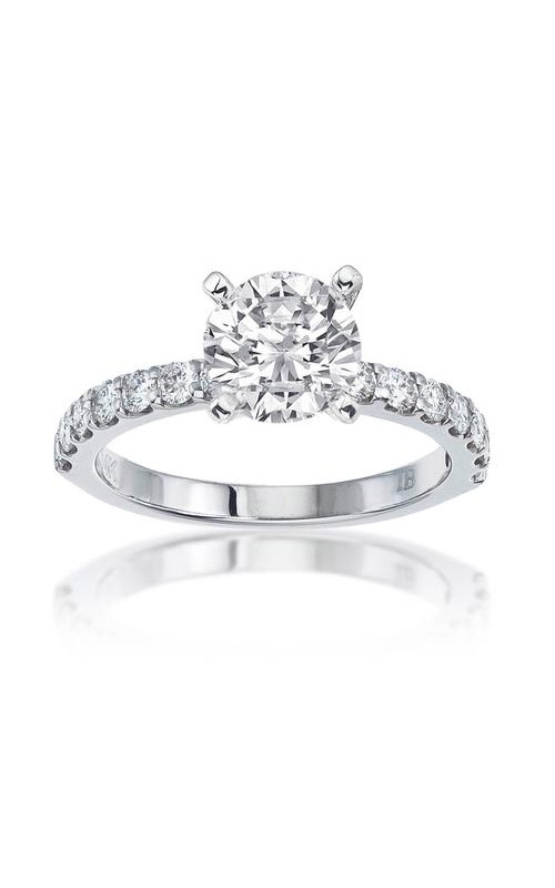 Love Story 14k 5/8 Round Semi Mount Engagement Ring 69156D-14W-3/4 product image