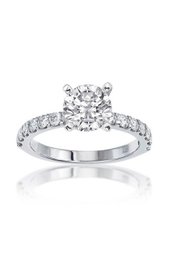Love Story 14k White Gold 3/8ctw Round Diamond Shared Prong Engagement Ring 69156D-14KW-1/2 product image