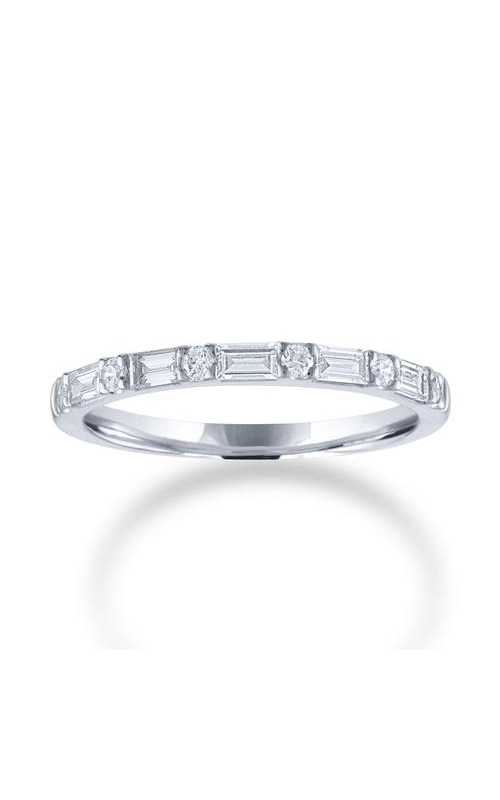 Love Story 14k White Gold 3/8ctw Brilliant and Baguette Wedding Band 70106D-14KW-3-8 product image