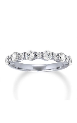 Love Story 14k White Gold 1/3ctw Diamond Alternating Wedding Band 70116D-14KW-1-3 product image
