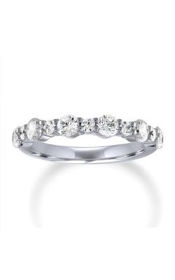 Love Story 14k White Gold 1/3ctw Diamond Alternating Wedding Band 70116D-14KW-1-3 product image