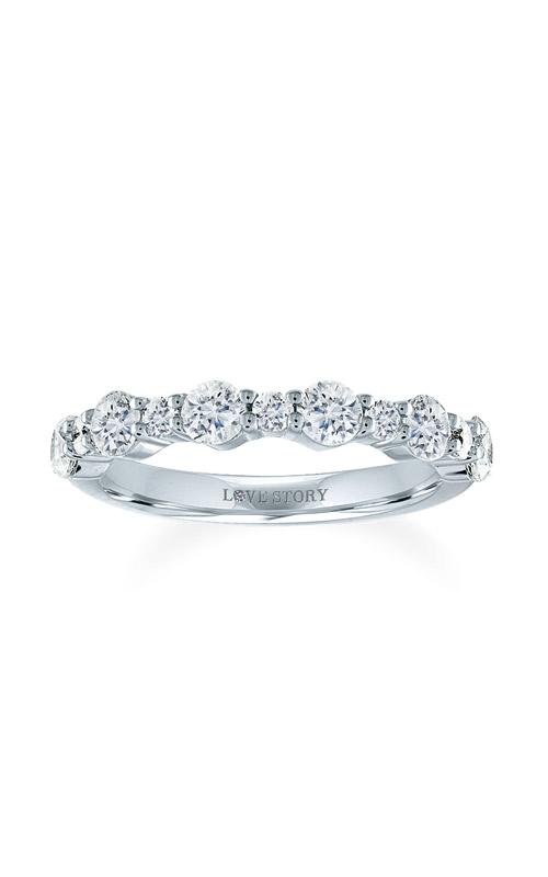 Love Story 14k White Gold 5/8ctw Diamond Wedding Band 70116D-14KW-3/5 product image