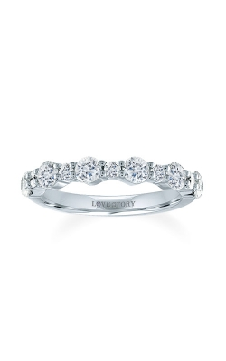 Love Story 14k White Gold 5/8ctw Diamond Wedding Band 70116D-14KW-3/5 product image