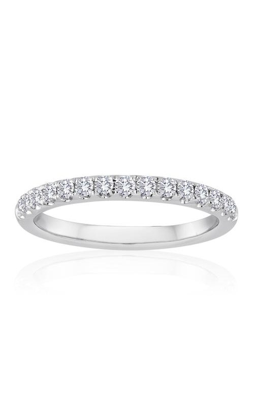 Love Story 14k White Gold 1/6ctw Pave Diamond Wedding Band 70156D-14KW-1/6 product image