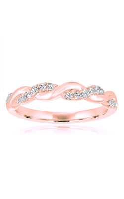 Love Story 14k Rose Gold 1/6ctw Twist Diamond Wedding Band 71186D-14KR-1-6 product image