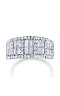 Love Story 14k White Gold 1.3ctw Brilliant and Baguette Anniversary Band 71826D-14KW-1.3 product image