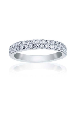 Love Story 14k White Gold 1/2ctw Round Diamond Pave Wedding Band 72576D-S14KW-1/2 product image