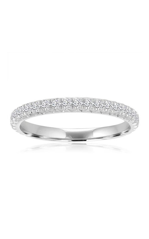 Love Story 14k White Gold 1/2ctw Round Pave Wedding Band 73267D-14KW-1/2 product image