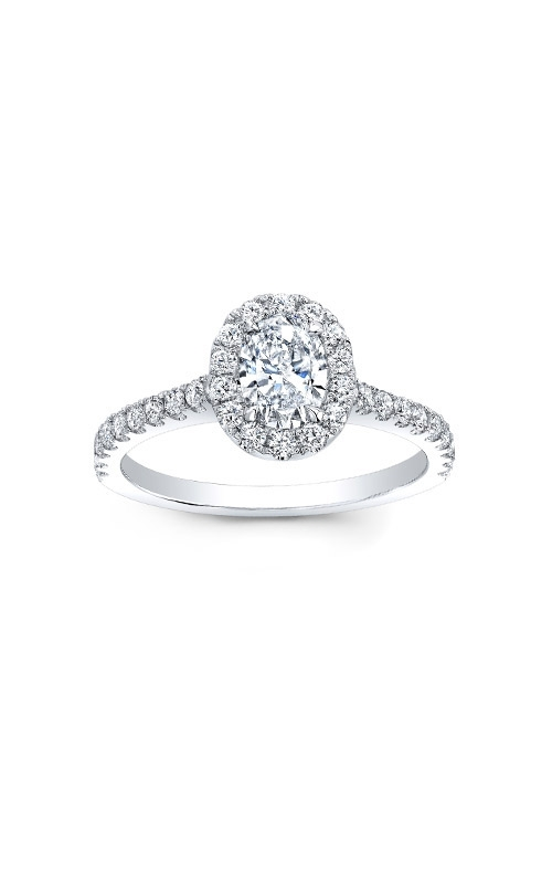 Love Story 14k White Gold Oval Diamond Engagement Ring AJ-R10450 product image