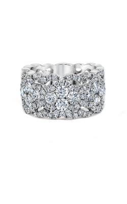 Love Story 14k White Gold 1 1/2ctw Diamond Lace Wedding Band AJ-R10022LJ product image