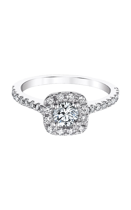 Love Story 14k White Gold 3/4ctw Halo Diamond Engagement Ring AJ-R10682LJ product image