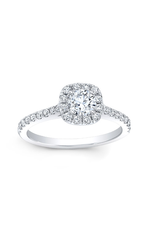 Love Story 14k White Gold Halo Engagement Ring AJ-R10683LJ product image