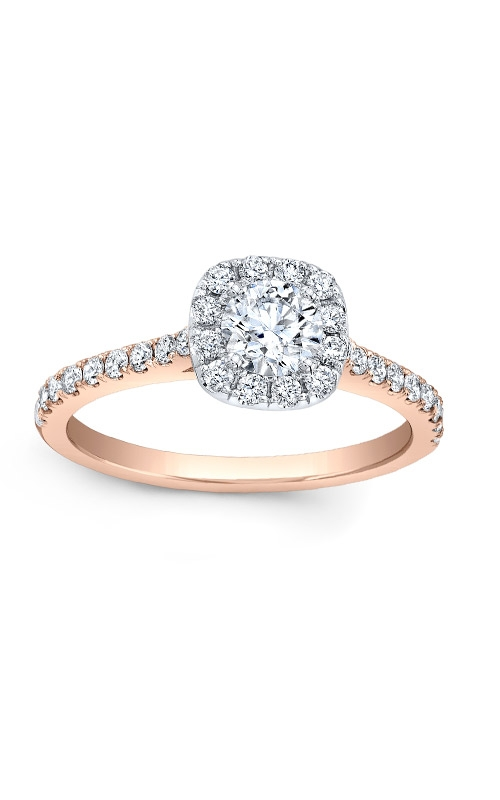Love Story 14k Rose Gold Halo Engagement Ring AJ-R10683LJ-ROSE product image