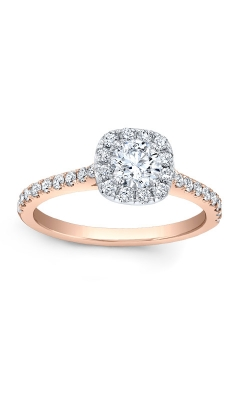 Love Story 14k Rose Gold Halo Engagement Ring AJ-R10683LJ-ROSE product image