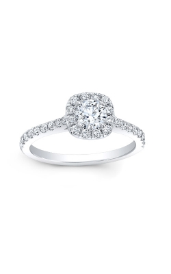 Love Story 14k White Gold Halo Engagement Ring AJ-R10683LJ product image