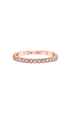 Love Story 14k Rose Gold Diamond Wedding Band AJ-R12926LSR product image