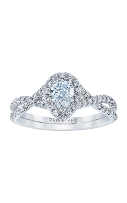 Love Story 14k 3/4ctw Pear Halo Engagement Ring AJ-R13182LJ product image