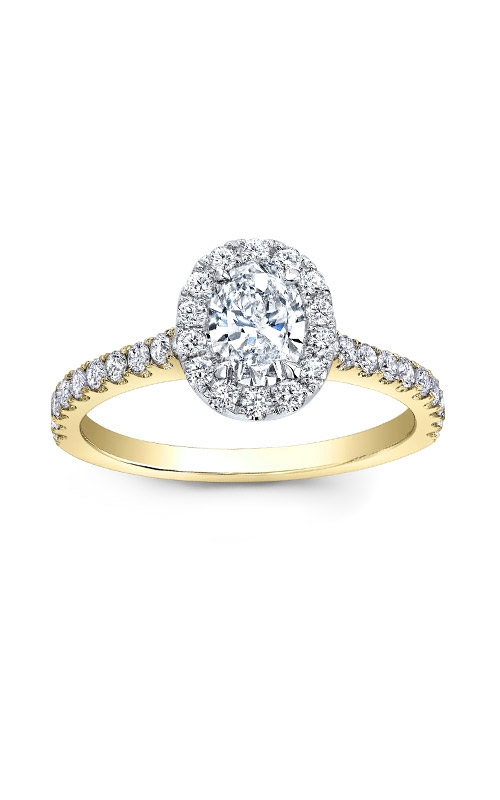 Love Story 14k Yellow Gold Oval Diamond Engagement Ring AJ-R13423-YLW product image