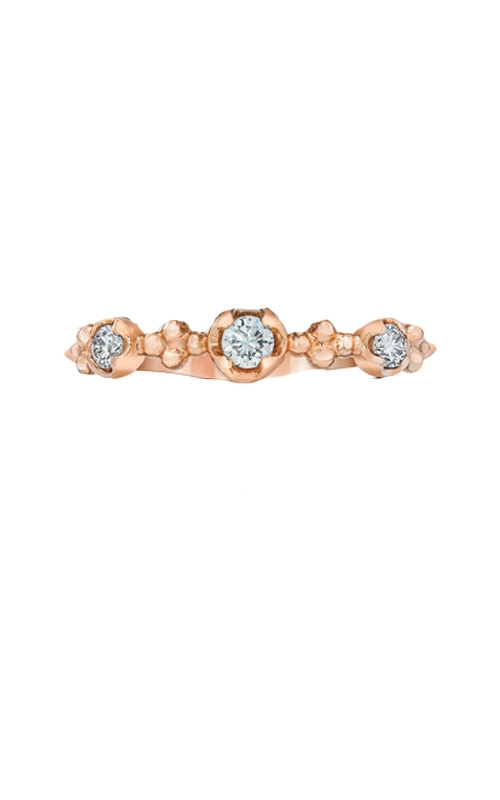 Love Story 14k Rose Gold 1/5ctw Diamond Stackable Band AJ-R15992LSR product image