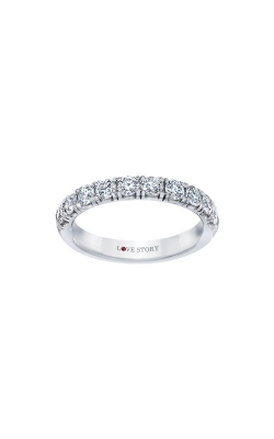 Love Story 14k White Gold .25ctw Wedding Band AJ-R5804 product image