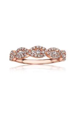 Love Story 14k Rose Gold Brilliant Cut Twist Wedding Band AJ-R7093 product image