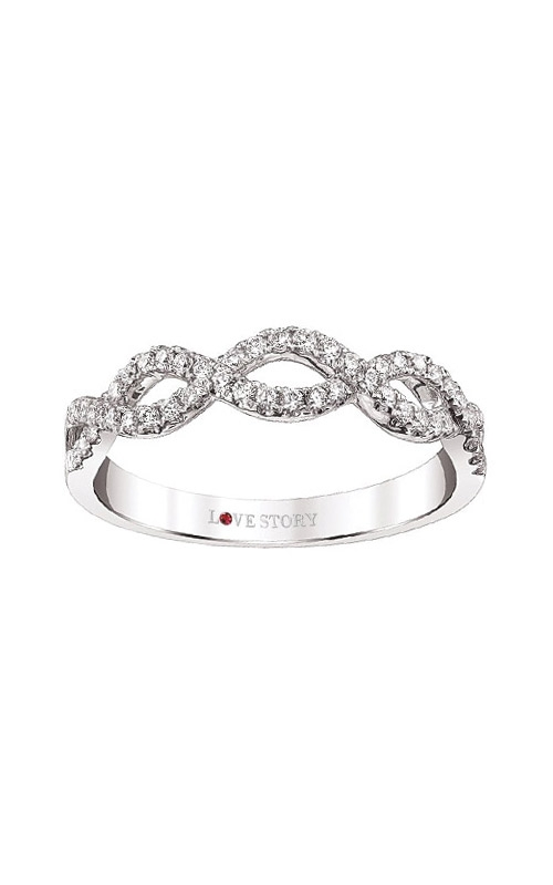 Love Story 14k White Gold 1/4ctw Infinity Band AJ-R8277W product image