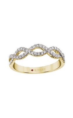 Love Story 14k Yellow Gold Infinity Wedding Band AJ-R8277Y product image