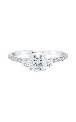 Love Story 14k Three Stone Round Diamond Engagement Ring IR100R1136LJ2W product image
