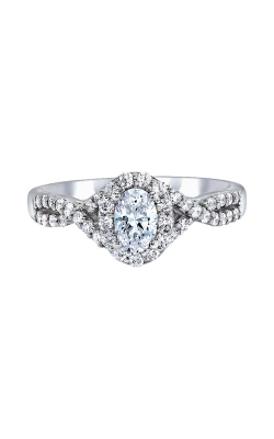 Love Story 14k White Gold Oval Halo Engagement Ring IR1200E20LJ46 product image