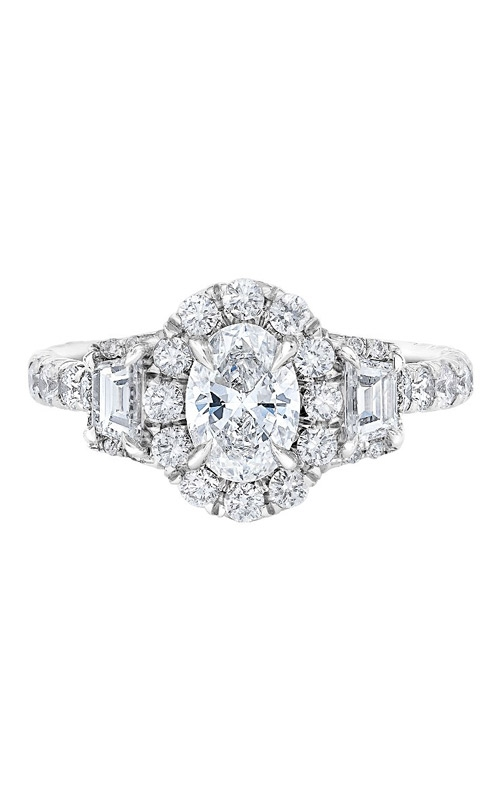 Love Story 14k 2ctw Oval Halo Engagement Ring IR200OV1140LJ2W product image